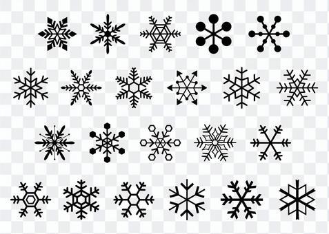 雪の結晶コレクション シルエット