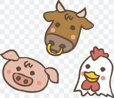 Cattle pig chicken 01