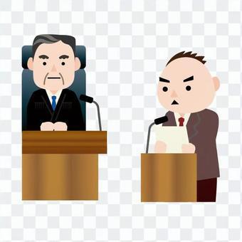 男子判斷人的證人席上