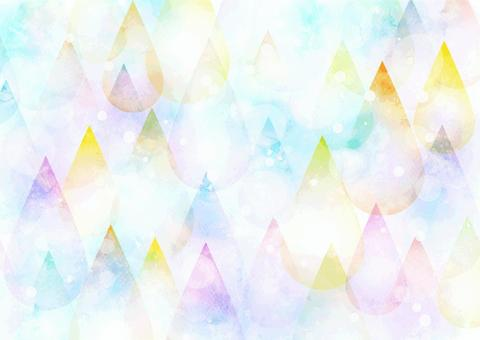 Watercolor style colorful drops background horizontal