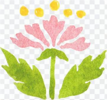 One point illustration of a flower