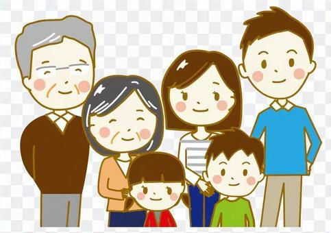 家族6人上半身2