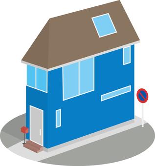 在變形區域建造的小房子