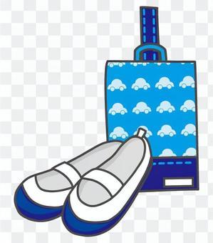 鞋包和鞋包(蓝色)