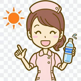女性(看護師):C_水分補給01BS