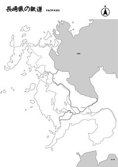 長崎鐵道鐵軌日本地圖黑白