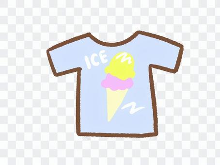 アイスのTシャツ