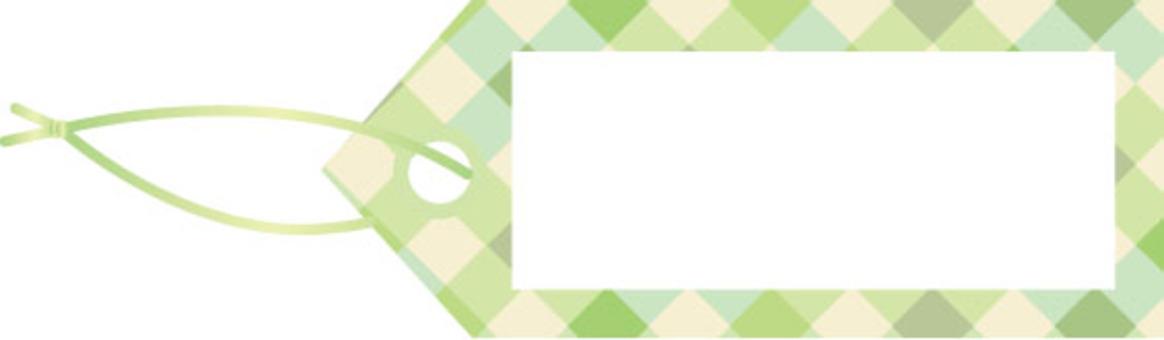 可愛的檢查標籤綠色