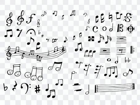 Music symbol hand drawn