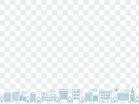 簡單的藍色城市景觀背景素材
