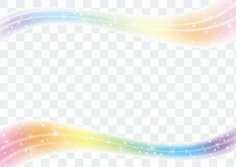 波浪線_波浪_框架材料01