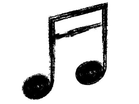 "Handwritten ""16th note doublet"" black"