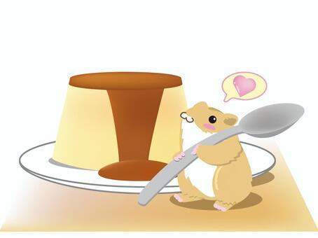 Pudding and ham