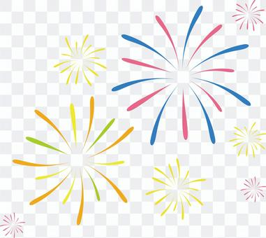 Hand-painted wind-fireworks 2