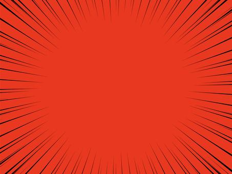 背景素材 黑色集中線 紅色背景