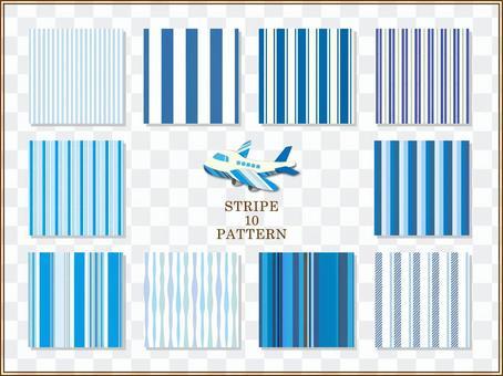 條紋圖案(藍色)