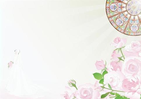 教堂_彩色玻璃_玫瑰