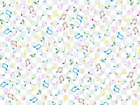 Musical note on one side wallpaper 2