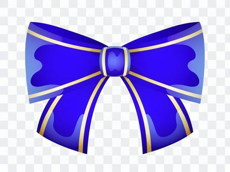 ai可愛いリボン1つ・青色