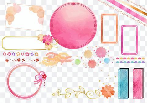日本圖案素材015日本圖案框架集