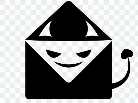 垃圾郵件矢量圖標