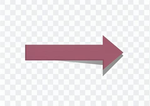 右箭頭鍵(紅紫色)