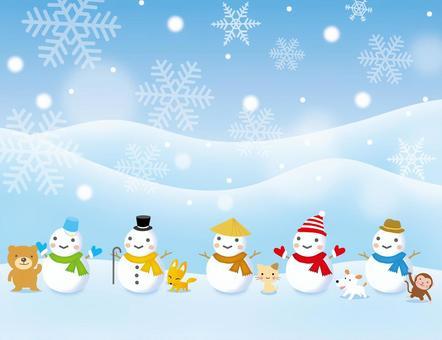 雪人和動物各種