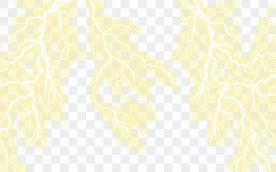カミナリ背景(黄色)