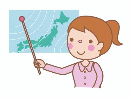 Weather forecaster (female)