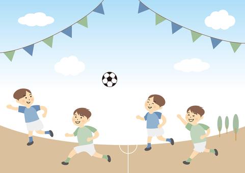 足球比賽比賽兒童