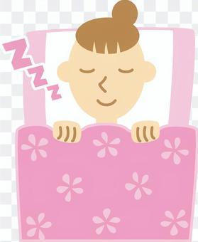 女人018(睡覺,等水果... Zzz)