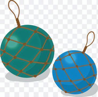 Ryukyu glass sphere blue system