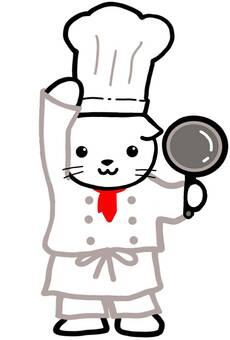 シェフ コック 料理 猫