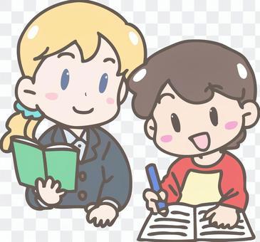 老師和學生(外國人)