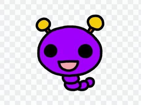 毛毛蟲紫色