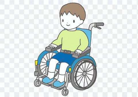 子ども用車椅子のイラスト