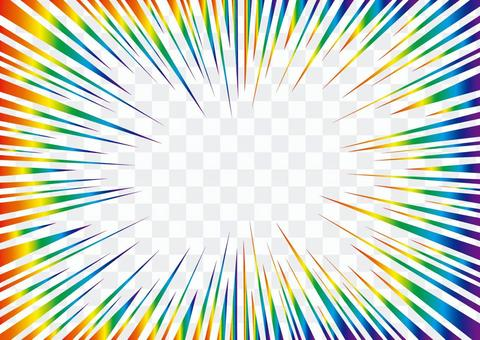 濃縮線·效果線☆視頻素材☆彩虹彩虹