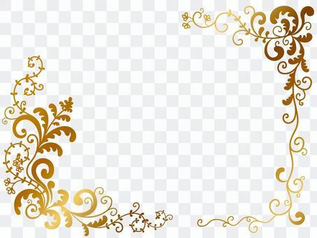 蔓藤花紋框架