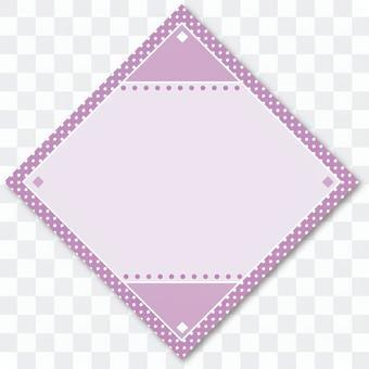 タイトルバック菱形01 紫