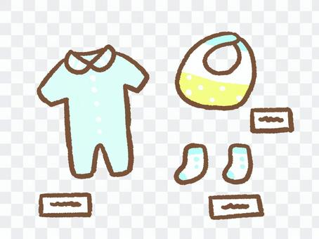 嬰兒服裝展示和出售