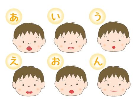 嘴型(男孩)