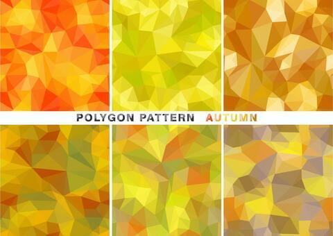 秋天的顏色多邊形圖案
