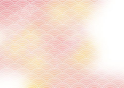 Qinghai wave watercolor arrangement background material