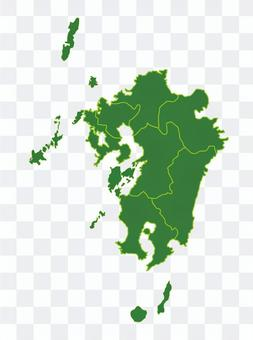 九州地區地圖插圖
