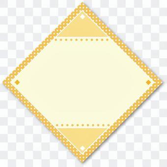 タイトルバック菱形01 黄