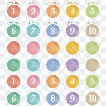 水彩的數字圖標
