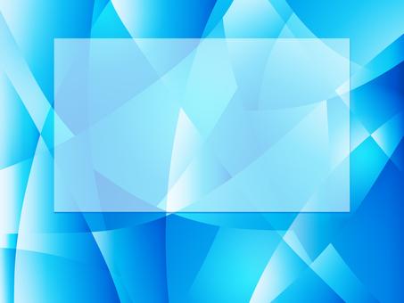 절단 된 파란색 배경에 흰색 사각형