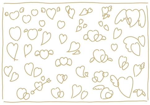 溫柔的天使心線描圖集