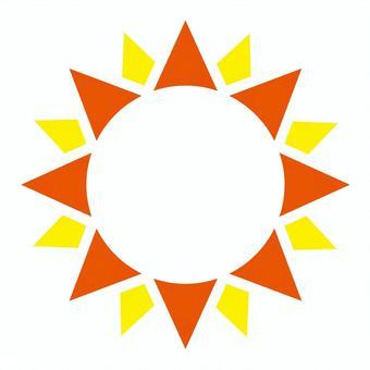 ギラギラ太陽フレーム