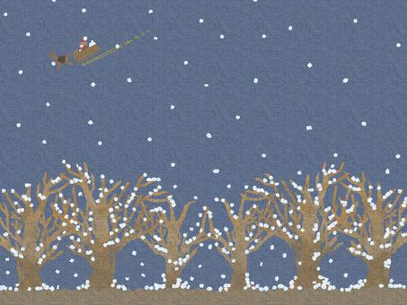 Santa Claus at midnight on Christmas Eve